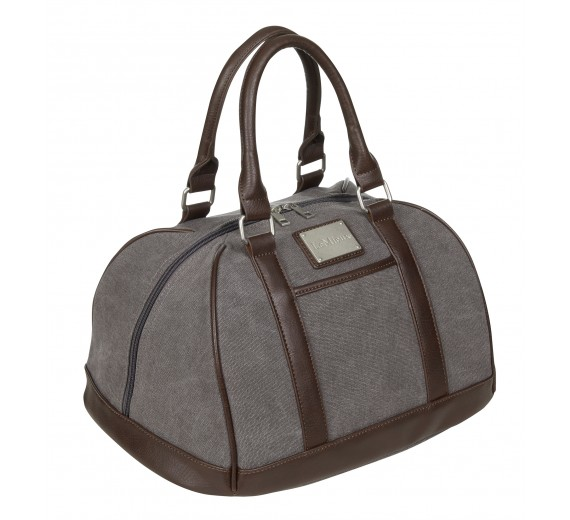 LUXURY CANVAS HAT BAG - GRÅ