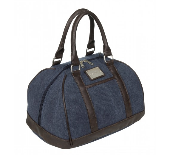 LUXURY CANVAS HAT BAG - NAVY