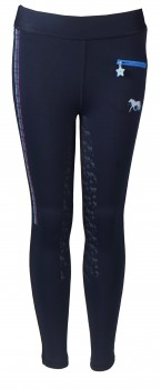 Junior ride tights Bijoux Navy-20