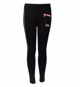 Junior ride tights Bijoux Sort-20