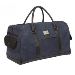 LUXURY CANVAS DUFFEL BAG - NAVY