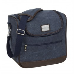 LUXURY CANVAS GROOMING BAG - NAVY